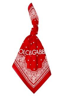 Красный хлопковый платок Dolce&;Gabbana