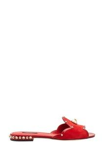 Красные слиперы из замши Dolce&;Gabbana