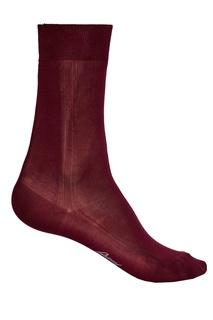 Бордовые носки из шелка Brioni