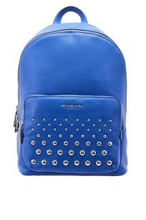 Синий кожаный рюкзак Michael Kors