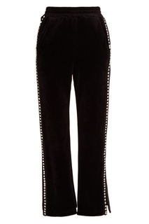 Бархатные брюки с кристаллами Mo&;Co