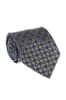 Зеленый галстук с геометрическим орнаментом Ermenegildo Zegna