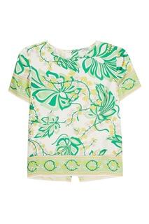 Шелковая блузка с растительным принтом P.A.R.O.S.H.
