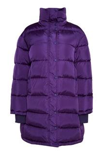 Фиолетовый пуховик oversize Balenciaga