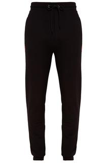 Черные брюки с логотипом Dirk Bikkembergs