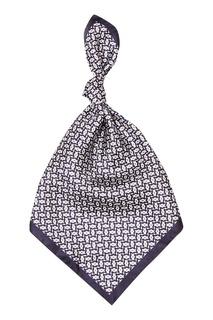 Шелковый платок с орнаментом Z Zegna
