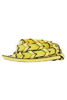 Желтый ремень для сумки Loewe