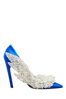 Синие туфли с пайетками и бисером Balenciaga