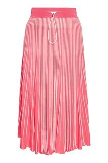 Розовая плиссированная юбка Valentino