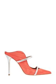 Оранжевые туфли Maureen с двойной серебристой полоской Malone Souliers