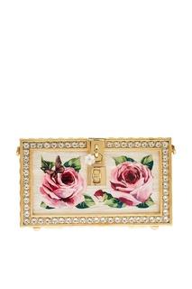 Клатч с розами и кристаллами Dolce&;Gabbana