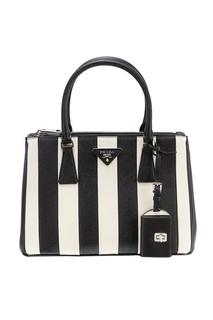 Черно-белая сумка Galleria Prada