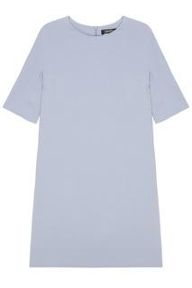 Однотонное голубое платье Max Mara