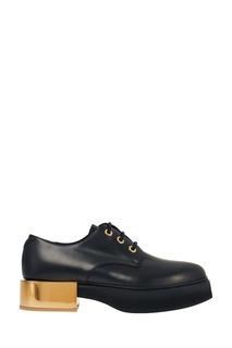 Кожаные дерби на золотом каблуке Alexander Mc Queen