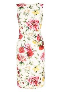 Платье с цветочным принтом Dolce&;Gabbana