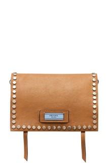 Бежевая сумка из кожи Etiquette Prada