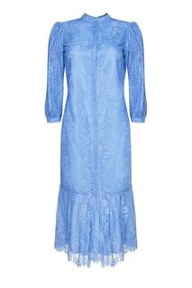 Синее кружевное платье с воланом Akhmadullina Dreams
