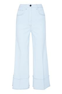 Широкие голубые джинсы Miu Miu