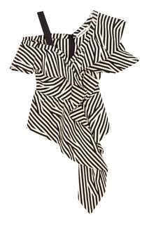 Асимметричная блузка с воланами Self Portrait