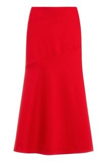 Красная юбка-миди Boss