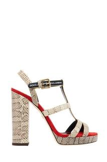 Босоножки Dolce&Gabbana из кожи змеи Dolce&;Gabbana