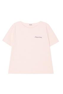 Розовая блузка в полоску Miu Miu