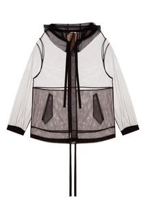Куртка-анорак из черной сетки No21