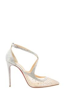 Серебристые туфли Twistissima Strass 100 Christian Louboutin