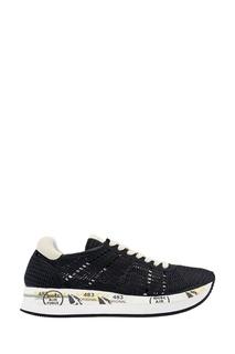 Черные сетчатые кроссовки Premiata