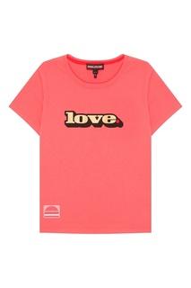 Розовая футболка из хлопка Love Marc Jacobs