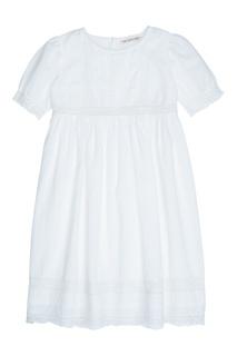 Хлопковое белое платье GEMMA Bonpoint