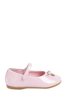 Розовые лакированные туфли с бантом Dolce&Gabbana Children