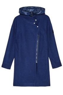 Синее пальто с капюшоном Novaya