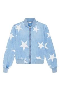 Джинсовая куртка со звездами Stella Mc Cartney