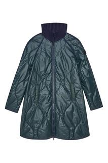 Легкое стеганое пальто зеленого цвета Novaya