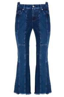 Синие джинсы пэчворк Alexander Mc Queen