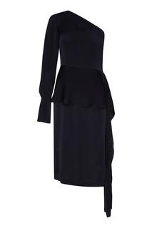 Черное платье на одно плечо Stella Mc Cartney