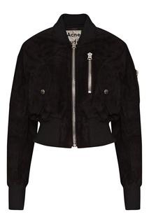 Черная замшевая куртка-бомбер Saski Light Acne Studios