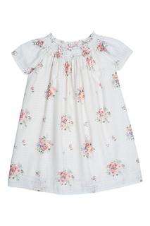 Хлопковое белое платье GOLDIE Bonpoint