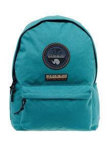 Зеленый рюкзак с нашивками Napapijri