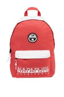 Красный рюкзак с белыми вставками Napapijri