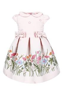 Розовое платье с цветами Simonetta Mini
