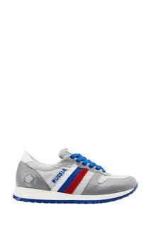 Кожаные кроссовки с олимпийской символикой Zasport