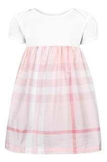 Платье с отделкой в клетку Burberry Children