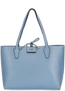 Двусторонняя синяя сумка Guess