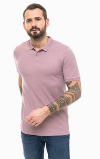 Однотонная футболка поло из хлопка Jack & Jones