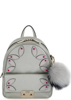 Серебристый рюкзак с декоративной отделкой Guess