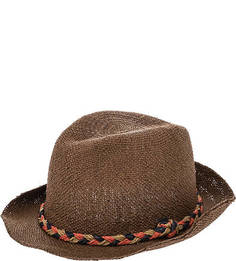 Коричневая бумажная шляпа Pepe Jeans