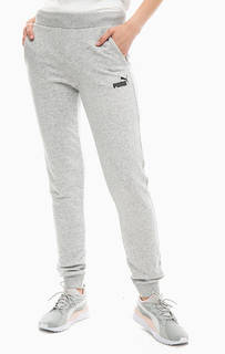 Серые хлопковые брюки джоггеры Puma
