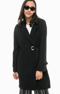 Черное пальто свободного кроя Vero Moda
